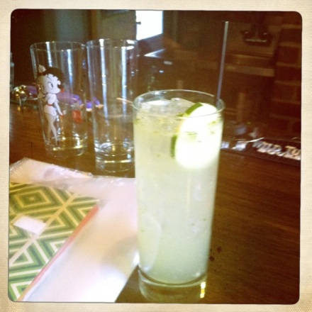 The Betty White, a refreshing blend of cucumber, mint, soda water, lime juice, rose water and more.