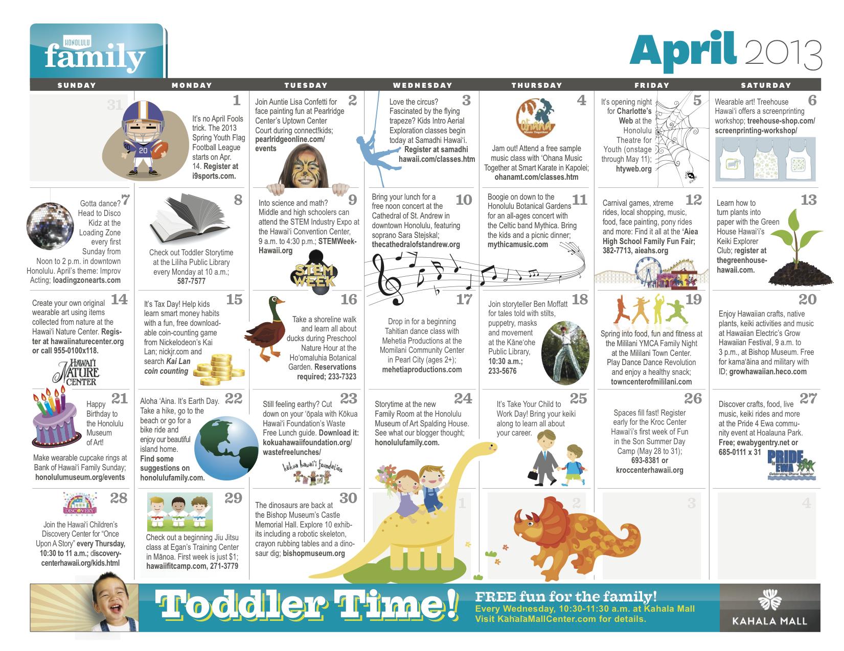 kids exercise calendar