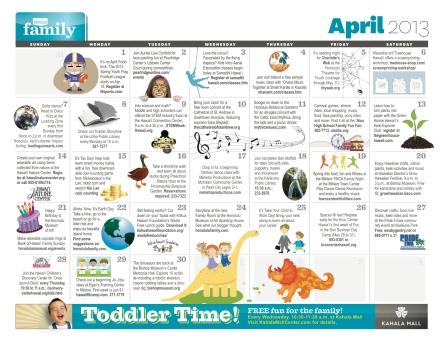 HF April 13 Calendar