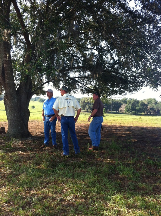 Dale, photographer Mike Potthast and Leon seek some much-needed shade to discuss the upcoming shot.